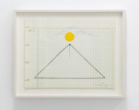 Elena del Rivero, 'Landscape in yellow with needle, #7', 2016