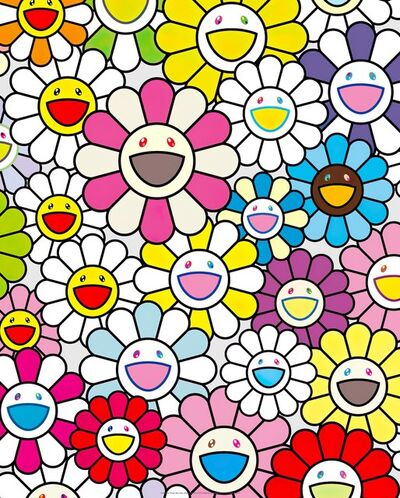 Takashi Murakami, 'A Little Flower Painting: Pink, Purple, and Many Other Colors', 2017