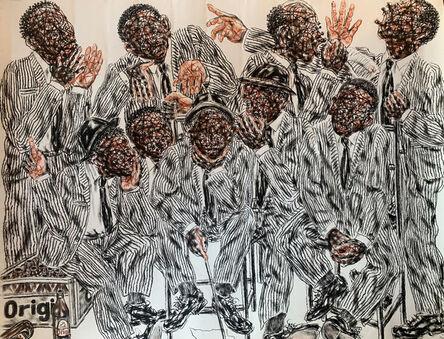 Salifou Lindou, 'Politiciens #6', 2020