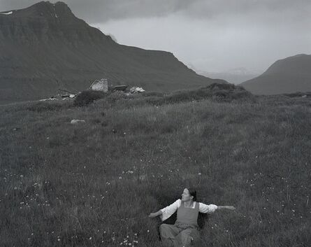 Agnieszka Sosnowska, 'Self-portrait in grass, Iceland', 2017
