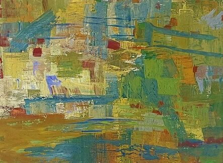 Morris Shulman, 'Abstraction in Blue, Green and Orange', 1958