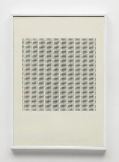 Maurizio Nannucci, 'Dattilogramma S', 1964