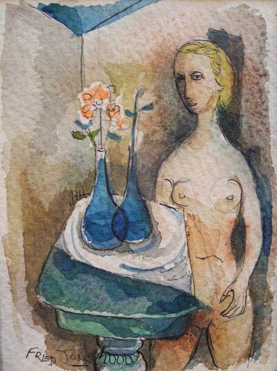 Frederick Jones, Jr, 'Nude at Table', ca. 1950