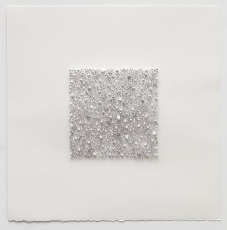 Lars Christensen, 'Grey square 02 (Red Rose)', 2017