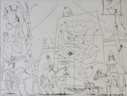 Pablo Picasso, 'At the Circus: Acrobats, Giraffe and Swimmers', 1968