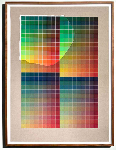 Analía Saban, 'Transcending Pigment from Paint to Canvas, from Canvas to Paint (Color #2) No. II', 2020