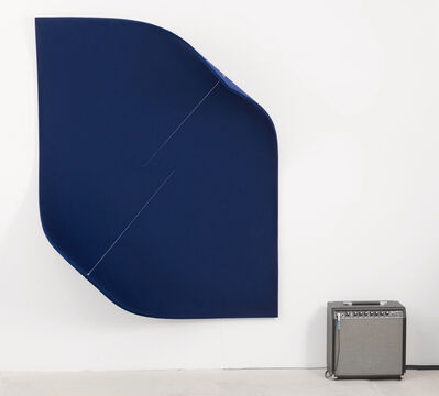 Naama Tsabar, 'Work On Felt (Variation 15) Dark Blue', 2017