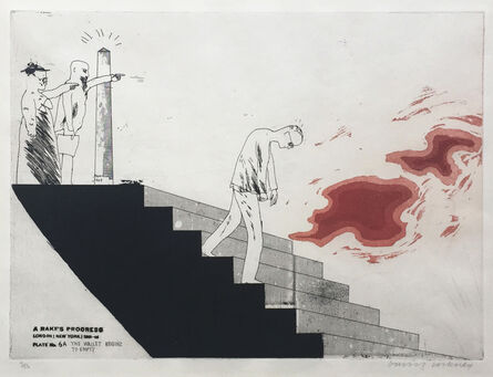 David Hockney, 'The Wallet Begins to Empty', 1961