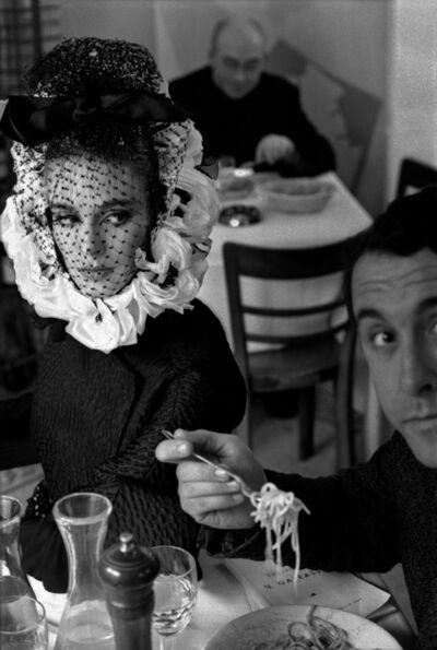 Frank Horvat, 'Pour Harper's Bazaar, Haute Couture Avec Deborah Dixon (Spaghetti Girl, Rome)', 1968