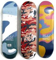 Andy Warhol, 'Camouflage skateboards set of 3', 2015