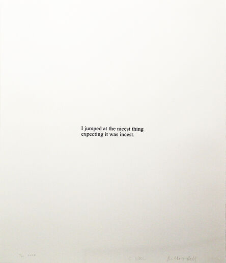 Christopher Wool, 'I Jumped At (from the Psychopts portfolio)', 2008