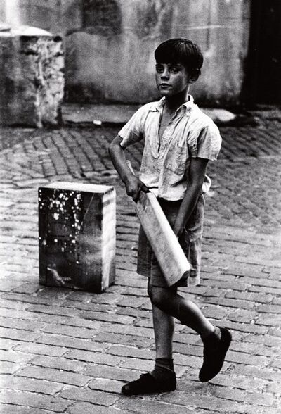 Roger Mayne, 'Cricketer (boy with bat), Addison Place, W. 11', 1957-printed 1984