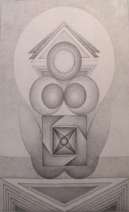 Gulam Rasool Santosh, 'Untitled (Pencil Drawing 1)'