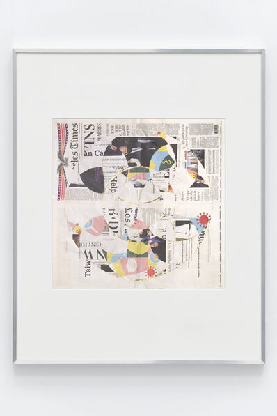 Walead Beshty, 'Blind Collage (Seven 180° Rotations, Los Angeles Times: Los Angeles, California, Sunday, November 8, 2020)', 2021