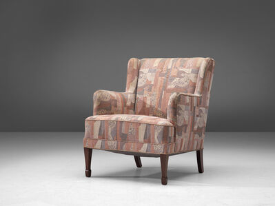 Frits Henningsen, 'Lounge Chair in Patterned Upholstery', ca. 1930