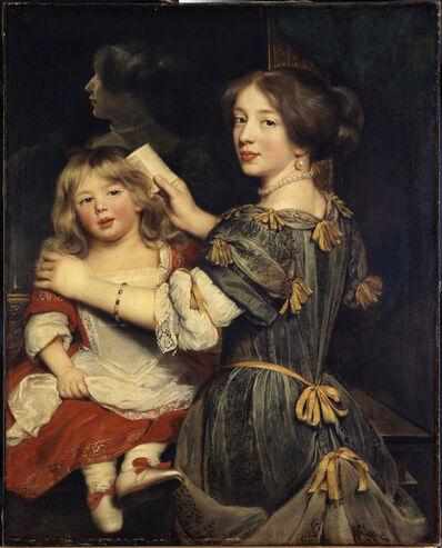 Claude Lefebvre, 'La Fille aînée de l'artiste coiffent son frère (The artist's oldest sister brushing her brother's hair)'