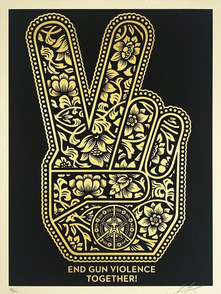 Shepard Fairey, ''Peace Fingers: End Gun Violence Together'', 2018