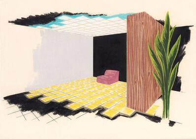 William Leavitt, 'Interior with Pink Chair', 1982