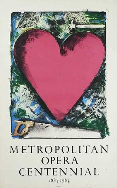 Jim Dine, 'A Heart at the Opera, Met Centennial', 1983