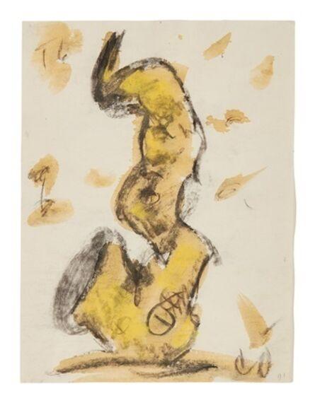 Claes Oldenburg & Coosje van Bruggen, 'Study for Soft Saxophone', 1991