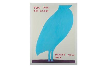 David Shrigley, 'You are too close please move back'