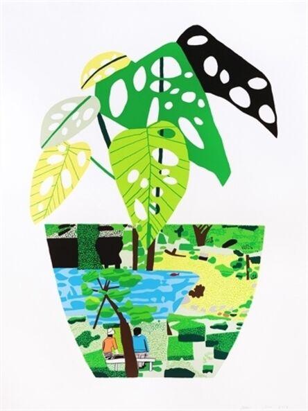 Jonas Wood, 'Landscape Pot With Plant', 2017