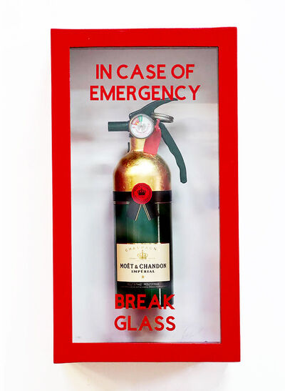 "Plastic Jesus, '""In Case of Emergency Break Glass"" Moet Chandon Compact Edition Fire Extinguisher', 2020"