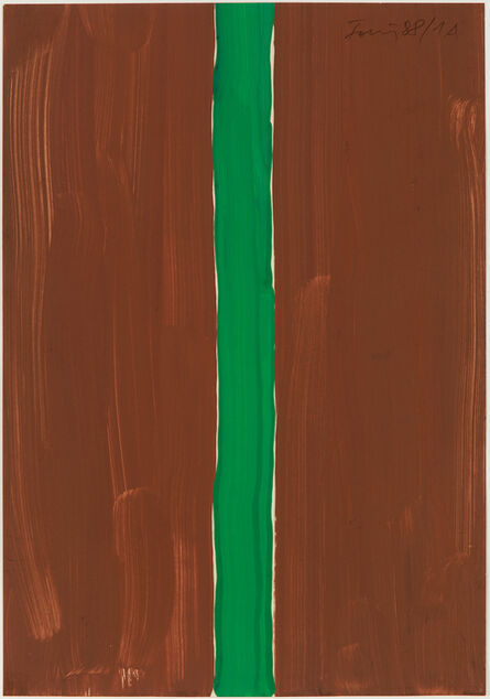 Günther Förg, 'Untitled (brown-green)', 1988