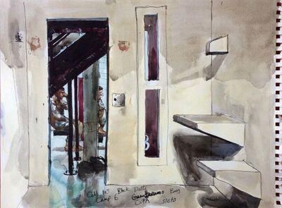 Steve Mumford, '5/15/13, Cell 103, Block Delta, Camp 6, Guantanamo Bay, Cuba', 2013
