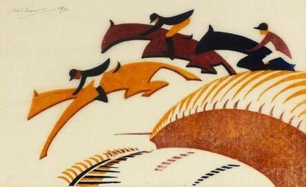 Sybil Andrews, 'Steeplechasing', 1930