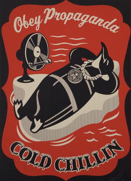 Shepard Fairey, 'Cold Chillin' (Red)', 2008