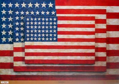 Jasper Johns, 'Three Flags', 2004