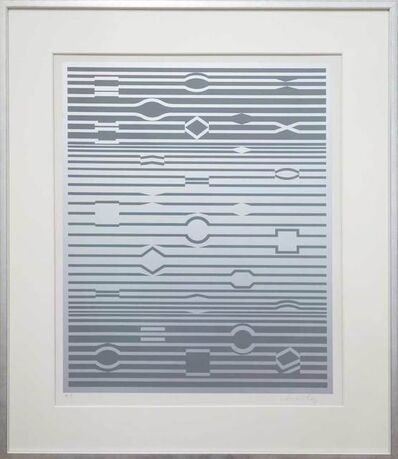 Victor Vasarely, 'Silberfrequenz - silver frequency', 1970