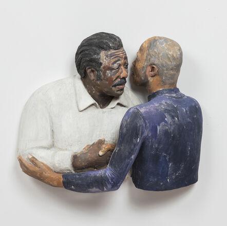 John Ahearn, 'Michael Weathers greeting his Father  ', 1993