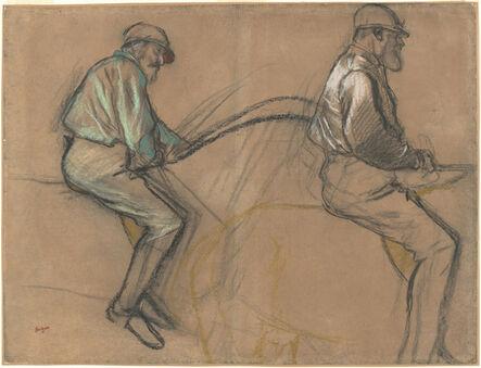 Edgar Degas, 'Two Studies of a Jockey', ca. 1884