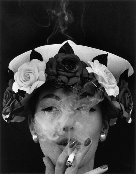 William Klein, 'Hat and Five Roses', 1956