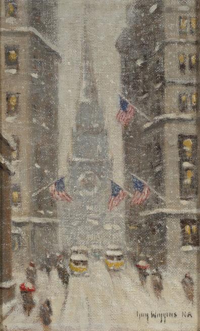 Guy Carleton Wiggins, 'Old Trinity, Winter', ca. 1930s-40s