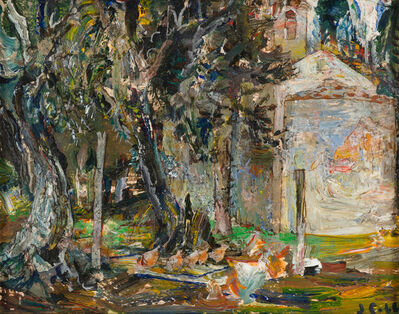 John Cobb, 'Chapel at Villa Monte, Chickens in the Coop', 2018