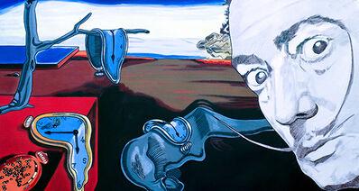 Steve Kaufman, 'Homage to Salvador Dali Clocks', 2004