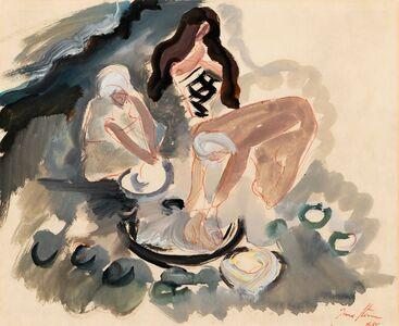 Irma Stern, 'Figures Washing', 1950