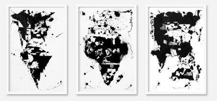 Egs, 'World Map 2 triptych', 2014