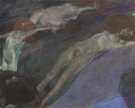Gustav Klimt, 'Moving Water', 1898