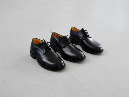 Jason Dodge, 'Shoes made for someone with three feet by a master shoemaker in Berlin'