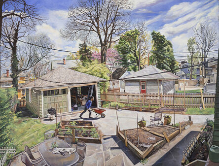Jeremy Long, 'Colleen Preparing the Garden in Early Spring', 2020-2021