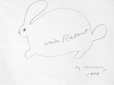Cy Twombly, 'White Rabbit (Suite of 4 drawings)', 1966