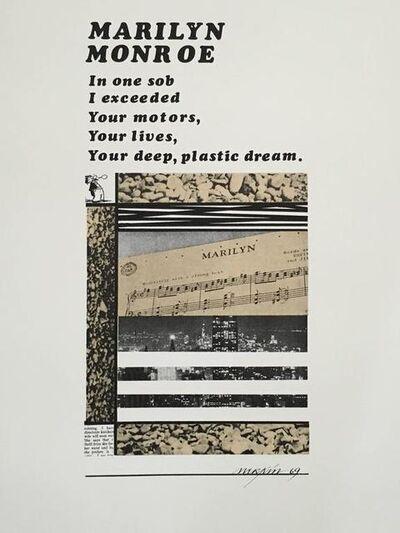 Richard Merkin, 'Marilyn Monroe Pop Art 1969 Color Screenprint Richard Merkin', 1960-1969