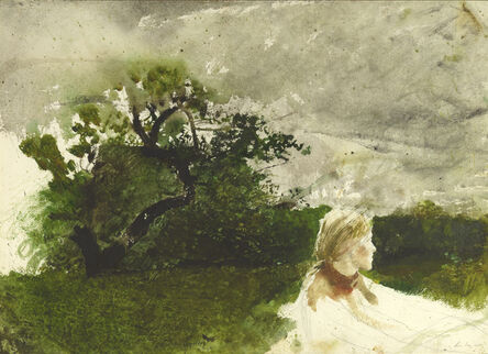 Andrew Wyeth, 'In the Orchard', 1974
