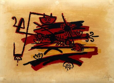 Wifredo Lam, 'De la carpeta El último viaje del buque fantasma', 1976