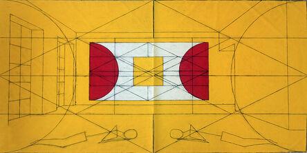 Matt Mullican, 'Untitled (colored World Frame chart on wall)', 2015