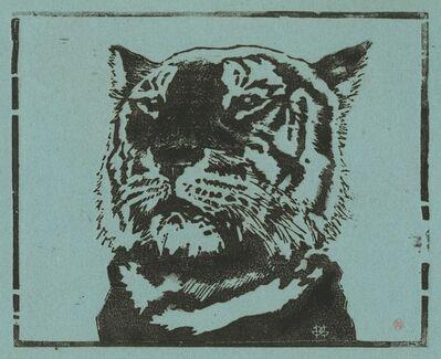 Henri-Charles Guérard, 'Tête de Tigre', 1890
